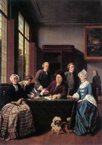 Jan Josef Horemans The Elder - O contrato de casamento