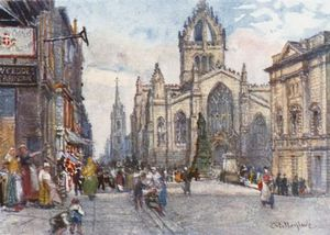 John Fulleylove - Catedral de St. Giles From The Lawnmarket