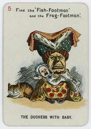 a duquesa com  bebé  por John Tenniel (1820-1914, United Kingdom)