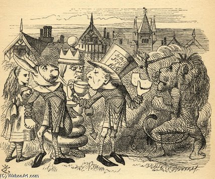 The Mad Hatter por John Tenniel (1820-1914, United Kingdom)