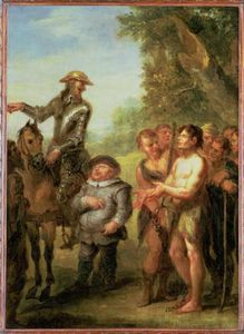 John Vanderbank - Don Quixote Libera The Galley Slaves, de Cervantes don Quixote