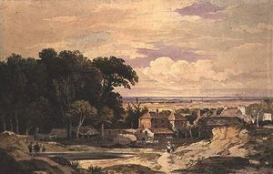 John Varley I (The Older) - Frognal , Hampstead , C . 1825