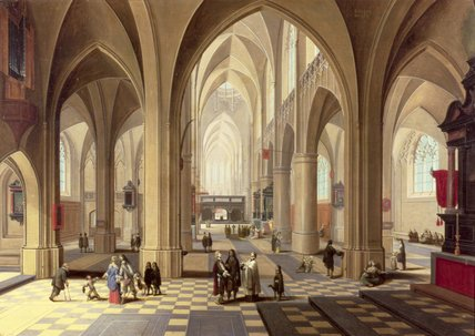 interior de gótico  Catedral  por Peeter Neeffs The Elder (1614-1652, Belgium)