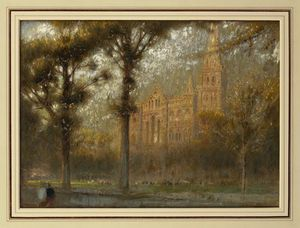 Albert Goodwin - Salisbury catedral
