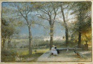 Albert Goodwin - The Gardens, Pallanza