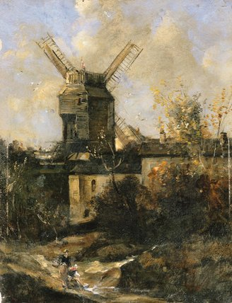 O Moulin de la Galette por Antoine Vollon (1833-1900, France)