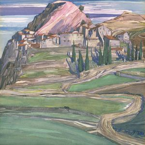 Charles Rennie Mackintosh - uma Monte  burgo  dentro de  do sul  Sommieres França