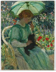Emanuel Phillips Fox - O parasol verde
