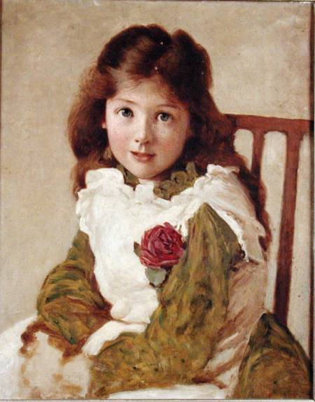 Retrato da filha do artista por George Dunlop Leslie (1835-1921, United Kingdom)