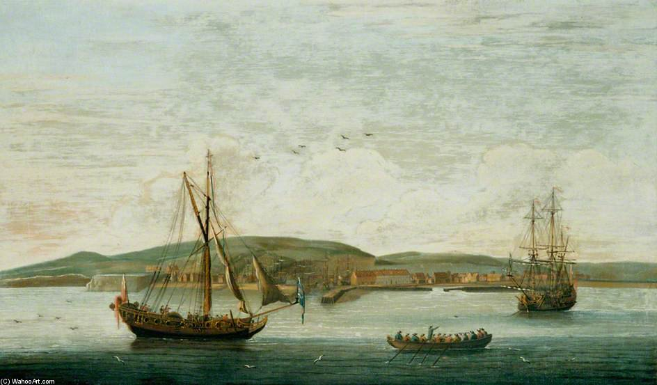 Homens O' A guerra Fora Newhaven , Sussex por John Thomas Serres (1759-1825, United Kingdom)