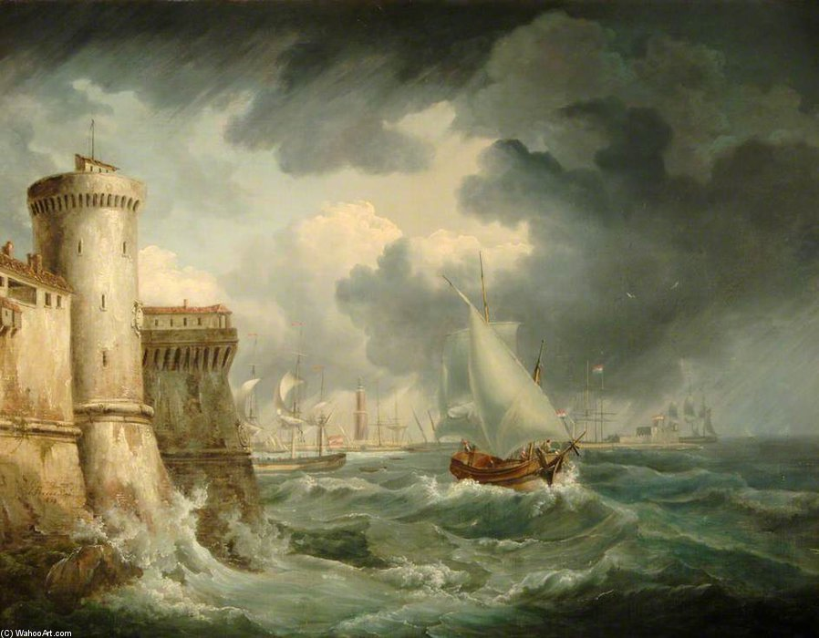 Expedição Off Genoa por John Thomas Serres (1759-1825, United Kingdom)
