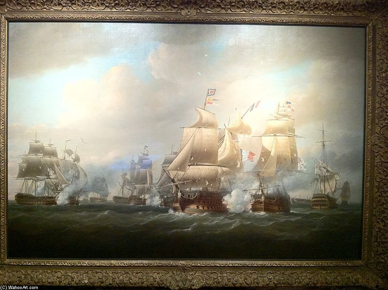 Duckworth's acção off São Domingo - por Nicholas Pocock (1740-1821, United Kingdom) | WahooArt.com