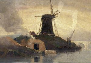 Samuel Owen - Moinho de vento e Brick Kiln On Riverside