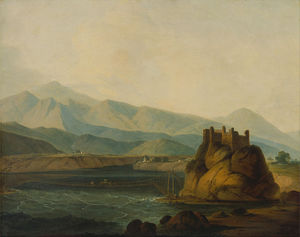 Thomas And William Daniell - a corda ponte na Serinagur