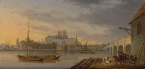 William Anderson - uma vista de Westminster ponte e o Abadia do lado sul