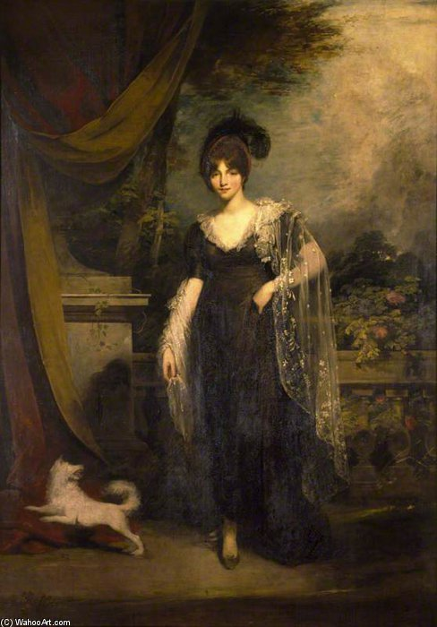 mrs robinson por William Owen (1769-1825, United Kingdom) | Reproduções De Pinturas Famosas | WahooArt.com