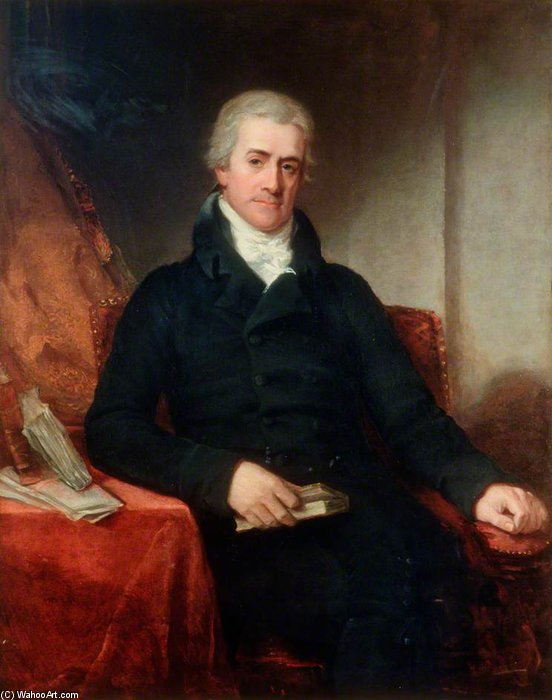 sir samuel romilly por William Owen (1769-1825, United Kingdom) | WahooArt.com