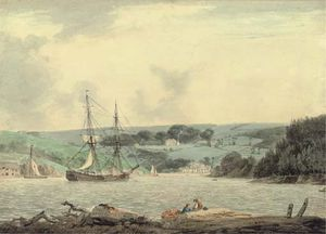 William Payne - belle vue do passagem no cap de down , Rio Tamar , Cornualha