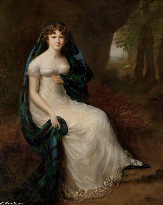 Elizabeth Brodie, esposa do quinto Duke Of Gordon por Alfred Edward Chalon (1780-1860, Switzerland)