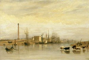 Frederick Nash - Shoreham Harbour, West Sussex