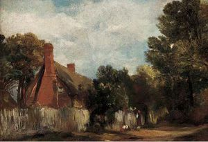 Frederick Waters (William) Watts - farmhouse at Hill-s Crista , Leste Bergholt