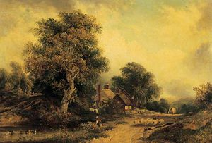 Frederick Waters (William) Watts - paisagem -