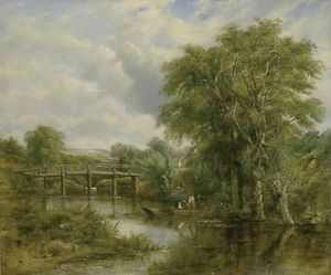 Frederick Waters (William) Watts - paisagem de rio