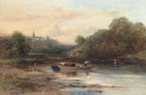 Frederick Waters (William) Watts - The Crossing Gado, Perto Norwich