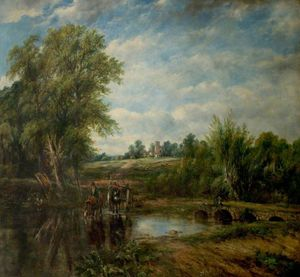 Ordem Copy Pintura : A Ford por Frederick Waters (William) Watts (1800-1870, United Kingdom) | WahooArt.com