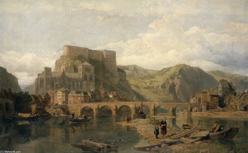 Huy On The Meuse, Bélgica por George Clarkson Stanfield (1793-1867, United Kingdom)