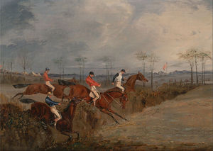 Henry Thomas Alken - Scenes From A Steeplechase- Outra Hedge