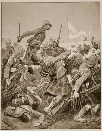o seaforth highlanders Tempestuosidade por Richard Caton De Woodville (1856-1927, United States)