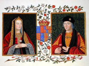Sarah Countess Of Essex - retrato duplo de elizabeth de york e henry vii )