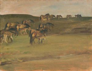 Alfred James Munnings - Pôneis de Exmoor