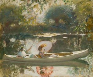 Alfred James Munnings - Estudo para o White Canoe -