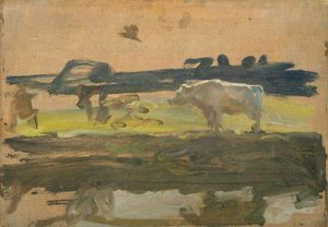 Alfred James Munnings - estudo do Branco  touro