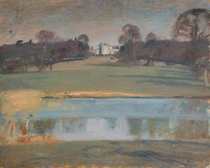 Alfred James Munnings - vista com Tendring Corredor , Suffolk