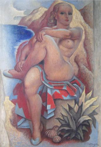 La Baigneuse por Jean Dominique Antony Metzinger (1883-1956, France)