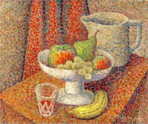nature morte por Jean Dominique Antony Metzinger (1883-1956, France)