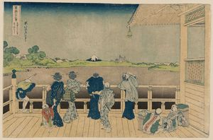 Katsushika Hokusai - Sazai Hall Of The Temple Of The Five Hundred Arhats