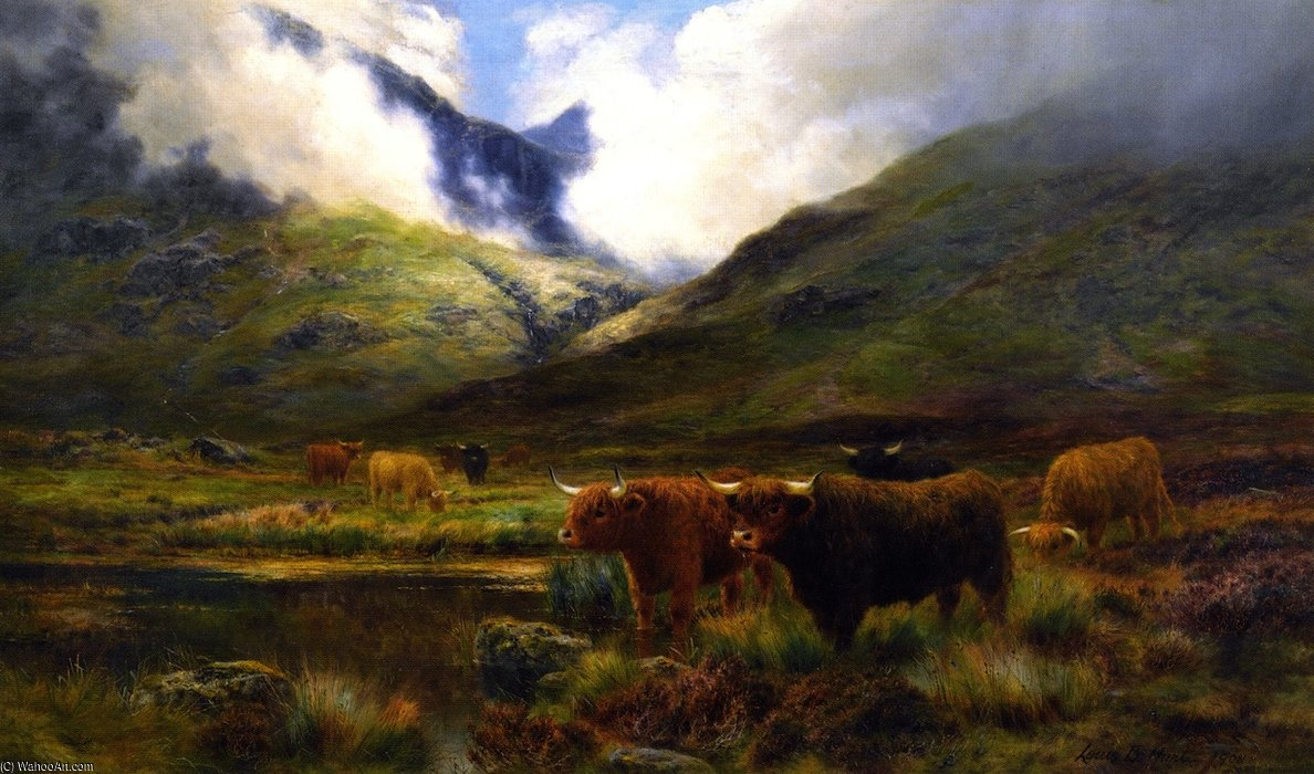 Clachaig, Clencoe por Louis Bosworth Hurt (1856-1929, United Kingdom)