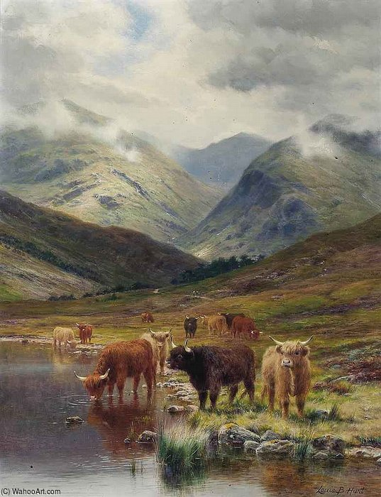 em glen nevis por Louis Bosworth Hurt (1856-1929, United Kingdom) | Copy Pintura | WahooArt.com