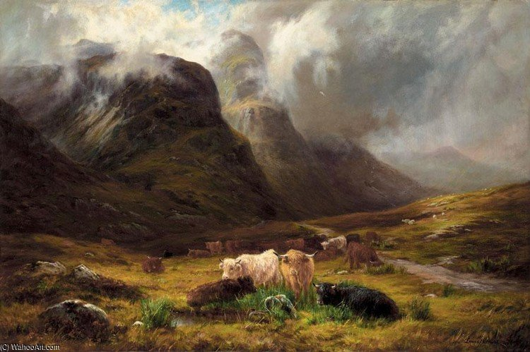 Em Glencoe por Louis Bosworth Hurt (1856-1929, United Kingdom)