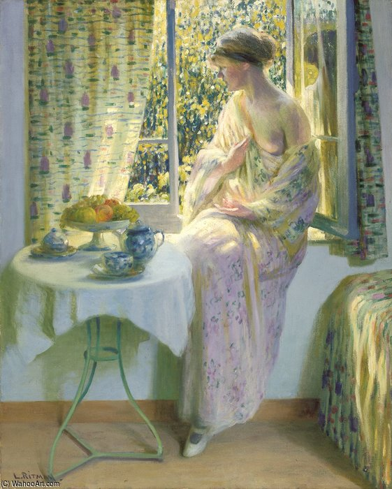 Early Morning luz do sol por Louis Ritman (1889-1963, Russia)