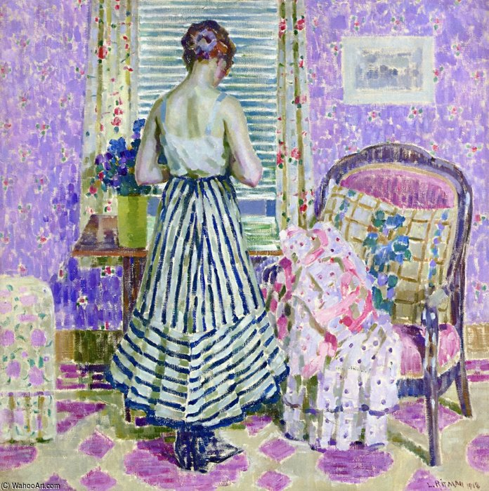 interior por Louis Ritman (1889-1963, Russia)