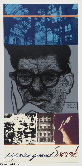Fifties Grande Ostentação ( morton feldman ) por Ronald Brooks Kitaj (1932-2007, United States)
