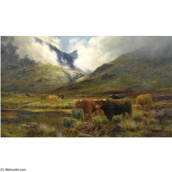 Clachaig, Glencoe por Louis Bosworth Hurt (1856-1929, United Kingdom)