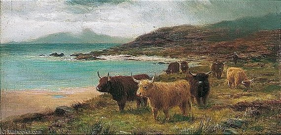 The Sands Of Morar por Louis Bosworth Hurt (1856-1929, United Kingdom)