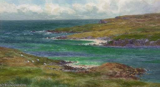 o som de noss , Shetland por Louis Bosworth Hurt (1856-1929, United Kingdom) | WahooArt.com