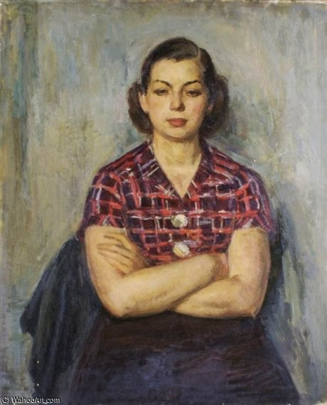 Girl In Plaid Blusa por Louis Ritman (1889-1963, Russia) | Copy Pintura | WahooArt.com